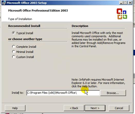 Hướng dẫn cài đặtMicrosoft Office 2003
