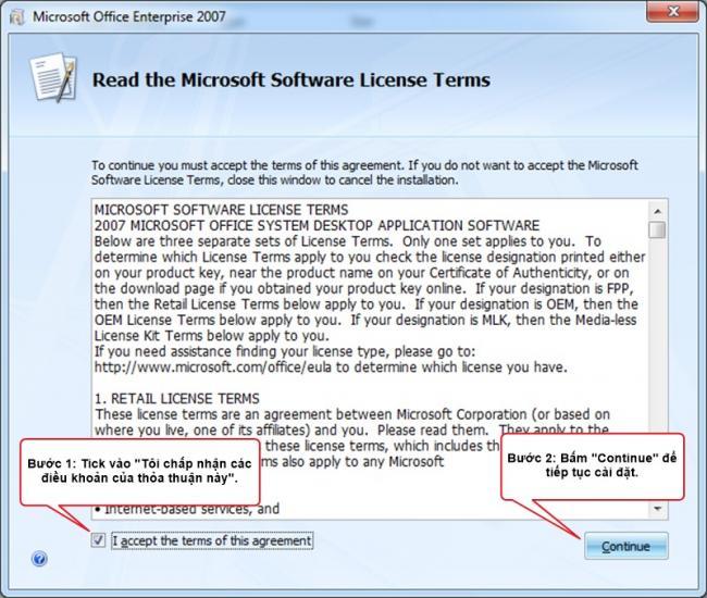 Hướng dẫn cài đặt Microsoft Office 2007