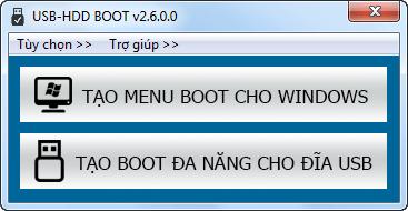 Phần Mềm Tạo USB-HDD Boot Dễ Dàng Với 1 Cú Click