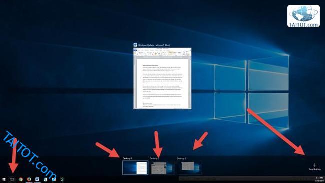 thu-thuat-windows-10-hay-Chuyển nhanh giữa máy tính để bàn ảo